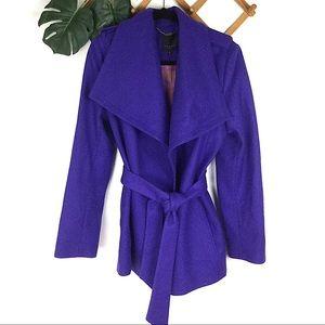 Ted Baker | Purple Wool Wrap Coat Jacket 4 New
